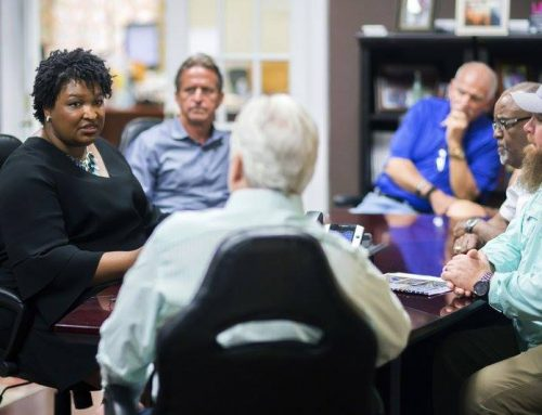 Abrams Makes Stop in H-Ville