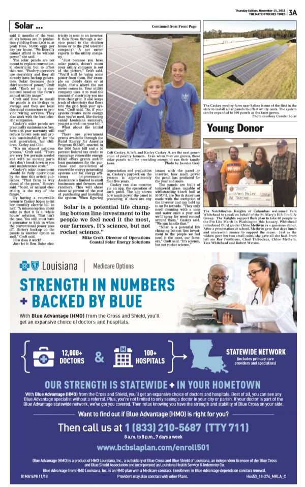 page two of an article about solar power and poultry farms
