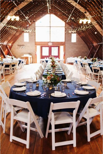wedding inside a barn
