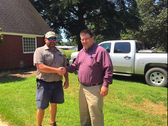 Mike Croft of Coastal Solar and Chad Hicks of CKT Farms, LLC