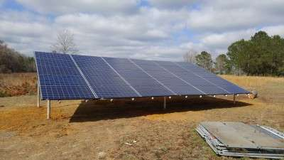 solar array on farm land