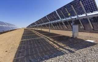 bifacial solar panels on the ground