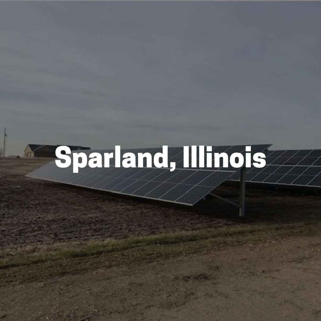 Solar Power on a farm in Sparland, Illinois