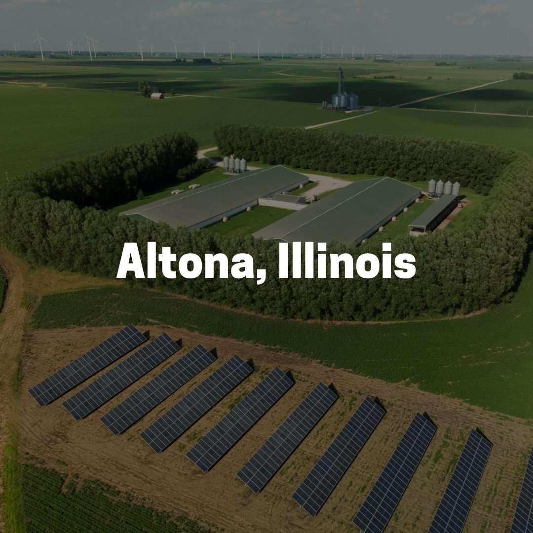 Solar Power on a Farm in Altona, Illinois