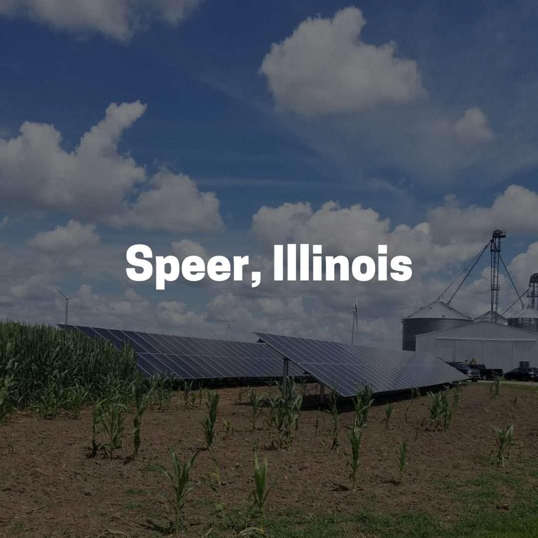 Solar Power on a Farm located in Speer, Illinois